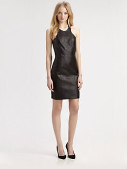 Mason by Michelle Mason - Leather-Front Dress
