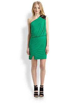 Mason by Michelle Mason - Asymmetrical Mini Dress