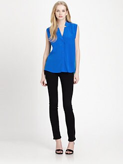 Mason by Michelle Mason - Silk Two-Tone Blouse