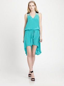 Mason by Michelle Mason - Hi-Lo Silk Dress