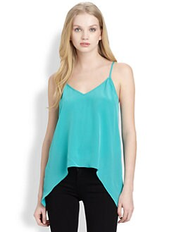 Mason by Michelle Mason - Silk Hi-lo Tank Top