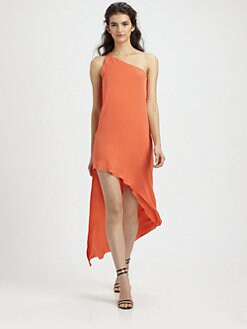 Mason by Michelle Mason - Asymmetrical Silk Dress