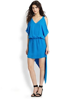 Mason by Michelle Mason - Silk Asymmetrical Dress