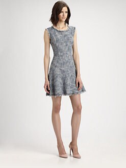 Rebecca Taylor - Frayed Tweed Dress