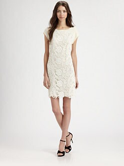 Rebecca Taylor - Silk & Lace Sheath Dress