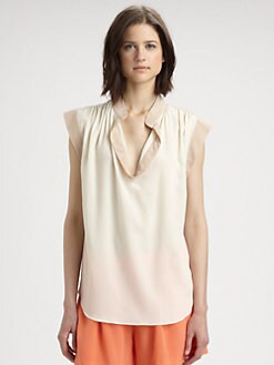 Rebecca Taylor - Silk Two-Tone Blouse