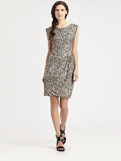 Rebecca Taylor - Leo Leopard Print Jersey Dress