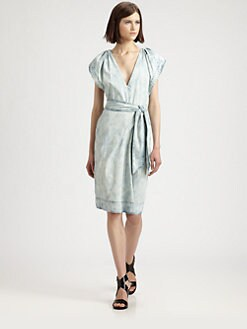 Rebecca Taylor - Bleached Denim Dress