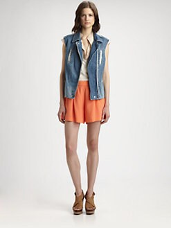 Rebecca Taylor - Zippered Denim Vest