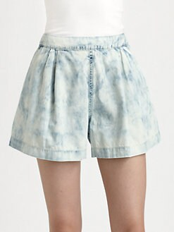 Rebecca Taylor - Bleached Denim Shorts