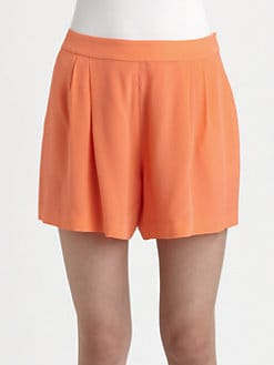 Rebecca Taylor - Silk Pleated Shorts