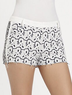 Rebecca Minkoff - Eyelet Z Shorts