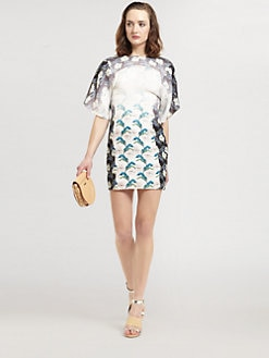 Rebecca Minkoff - Luis Floral Print Silk Dress