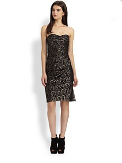 Rebecca Taylor - Metallic Floral Lace Dress