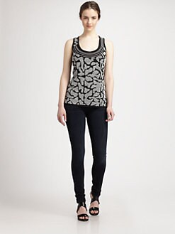 Grayse - Animal Print Knit Top