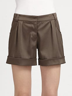 Grayse - Satin Cuffed Shorts