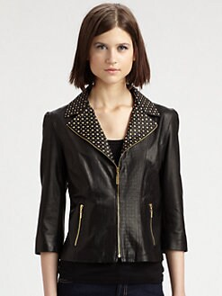 Grayse - Studded Leather Jacket