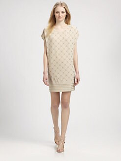 Grayse - Beaded Jersey Dress