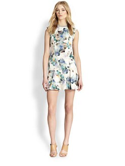 Rebecca Taylor - Printed Dropped-Waist Dress