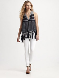 Rebecca Minkoff - Fringed Maui Top