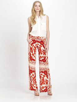 Rebecca Minkoff - Hugo Printed Silk Pants