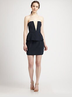 Zimmermann - Silk Illusion Strapless Dress