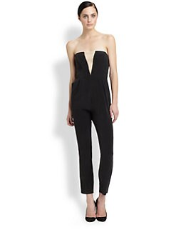 Zimmermann - Silk Illusion Strapless Jumpsuit