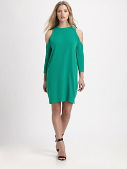 Tibi - Matte Jersey Open Shoulder Dress