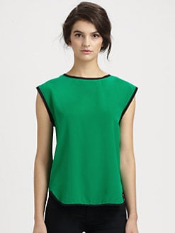 Tibi - Spectator Silk Blouse