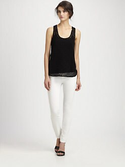 Tibi - Geometric Lace Tank Top
