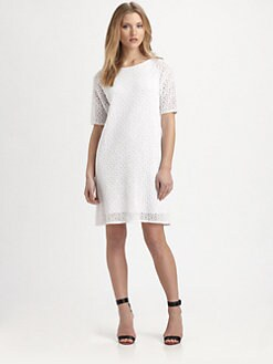 Tibi - Geometric Lace Dress