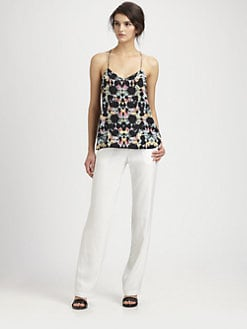 Tibi - Kaleidoscope Silk Tank Top