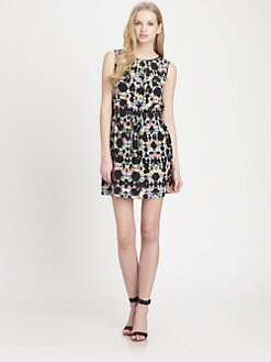Tibi - Silk Kaleidoscopic Printed Dress