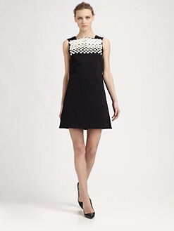 Tibi - Dover Beaded Cutout-Back Dress