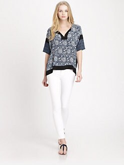 Rebecca Taylor - Star & Floral Print Blouse