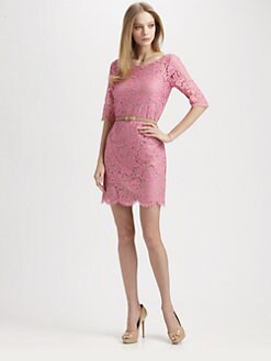 Robert Rodriguez - Belted Lace Dress