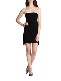 Robert Rodriguez - Strapless Crepe Cutout Dress