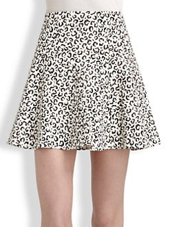 Tibi - Leona Animal Print Skirt