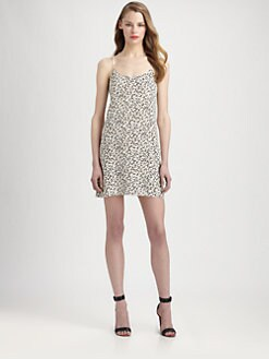 Tibi - Leona Animal Print Silk Dress