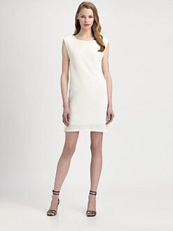 Tibi - Crochet Shift Dress