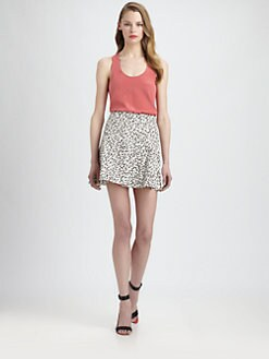 Tibi - Silk Racerback Tank Top