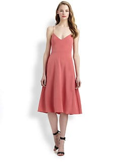 Tibi - Silk Strappy Dress