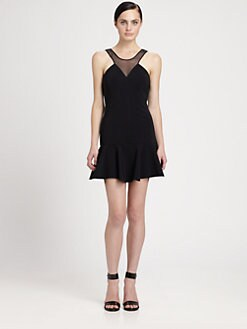 Robert Rodriguez - Bonded Techno Flounce Dress