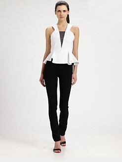 Robert Rodriguez - Bonded Techno Peplum Top