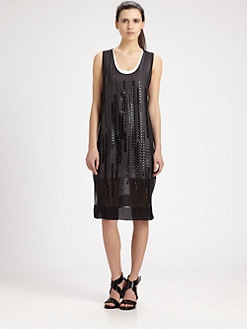 Robert Rodriguez - Metallic Grid Dress