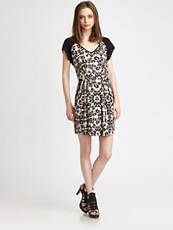 Rebecca Taylor - Leopard Block Dress