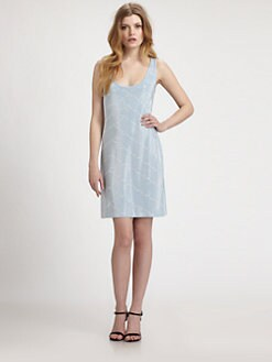 Grayse - Beaded Chevron-Patterned Dress