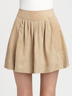 Rebecca Taylor - Suede Pleated Skirt