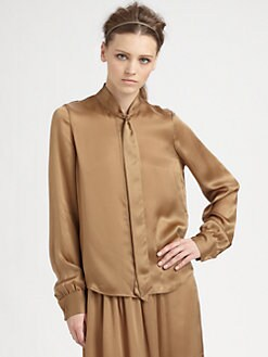 Rachel Zoe - Sawyer Tie-Collar Silk Top