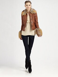 Rachel Zoe - Gloria Lambskin Leather Jacket